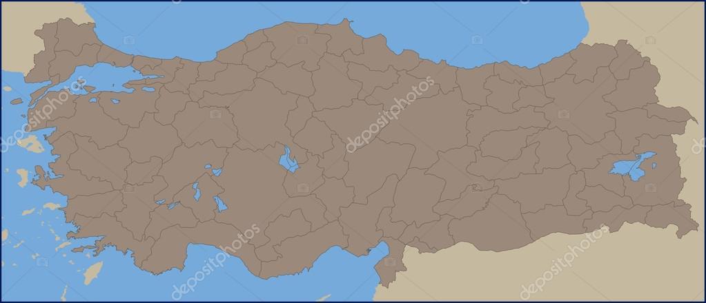 Empty Political Map Of Turkey Stock Vector C Pablofdezr1984 114339214