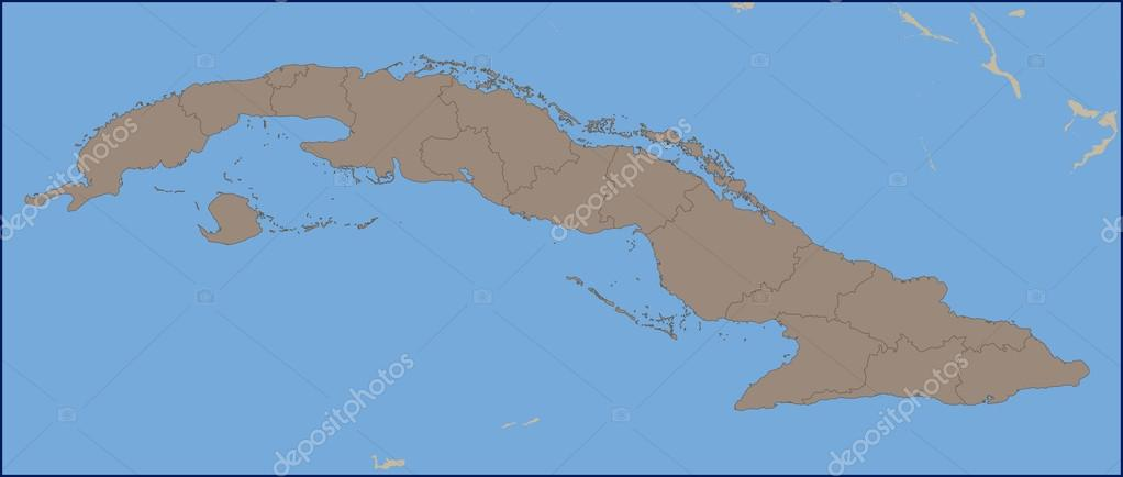 Empty Political Map Of Cuba Stock Vector C Pablofdezr1984 114457764