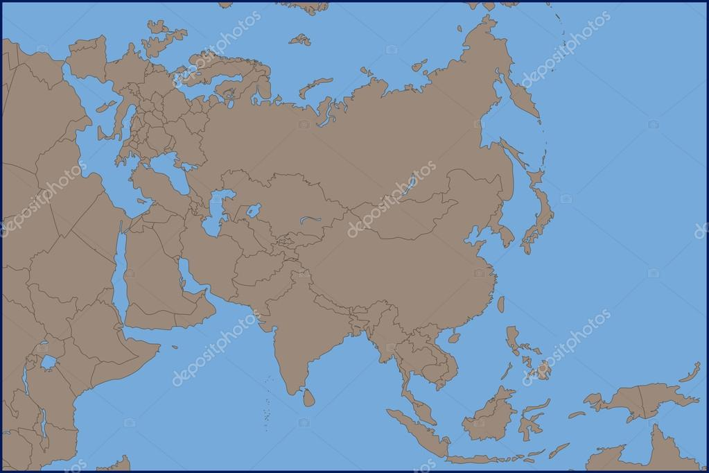 Empty Political Map Of Asia.Empty Political Map Of Asia Stock Vector C Pablofdezr1984 115078138