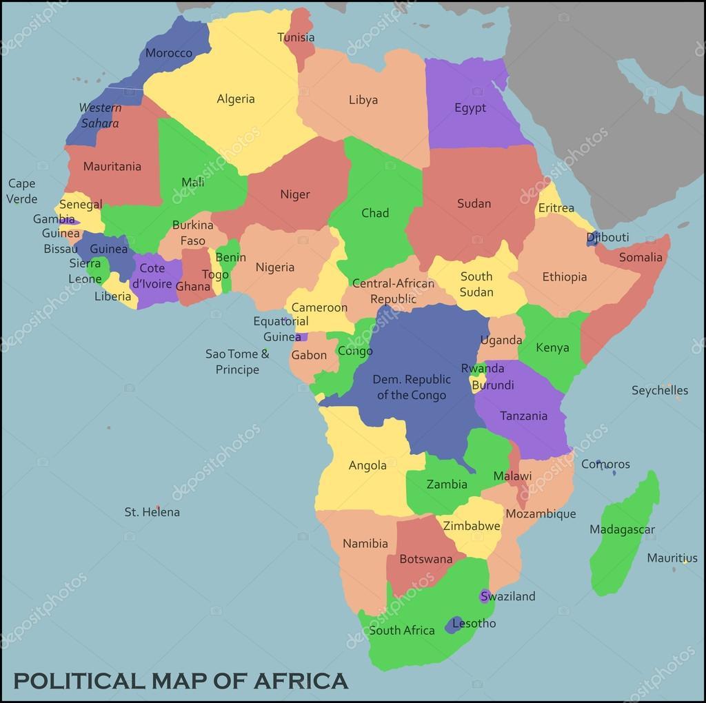 Political Map of Africa Stock Vector pablofdezr1984 61559841