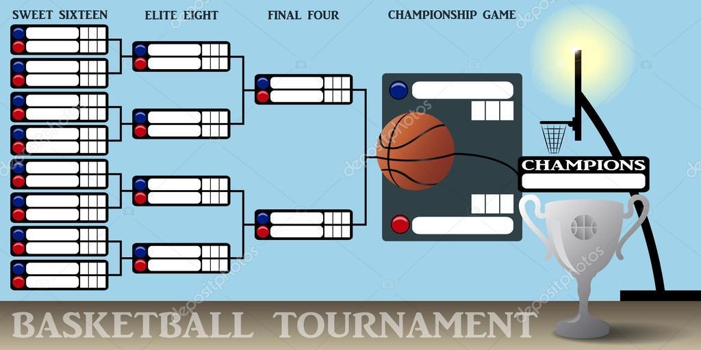 Basketball-Turnier-Halterung — Stockvektor © pablofdezr1984 #62162899