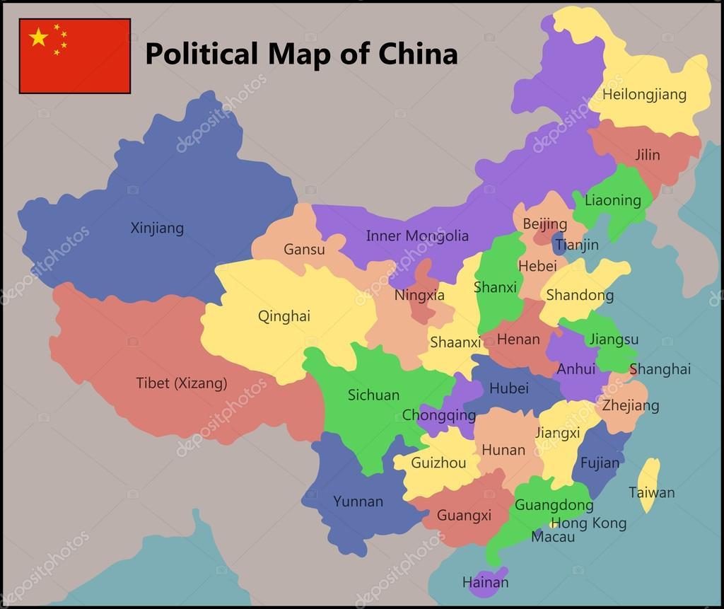 Mapa poltico de china vector de stock pablofdezr1984 63387581 mapa poltico de china vector de stock gumiabroncs Images