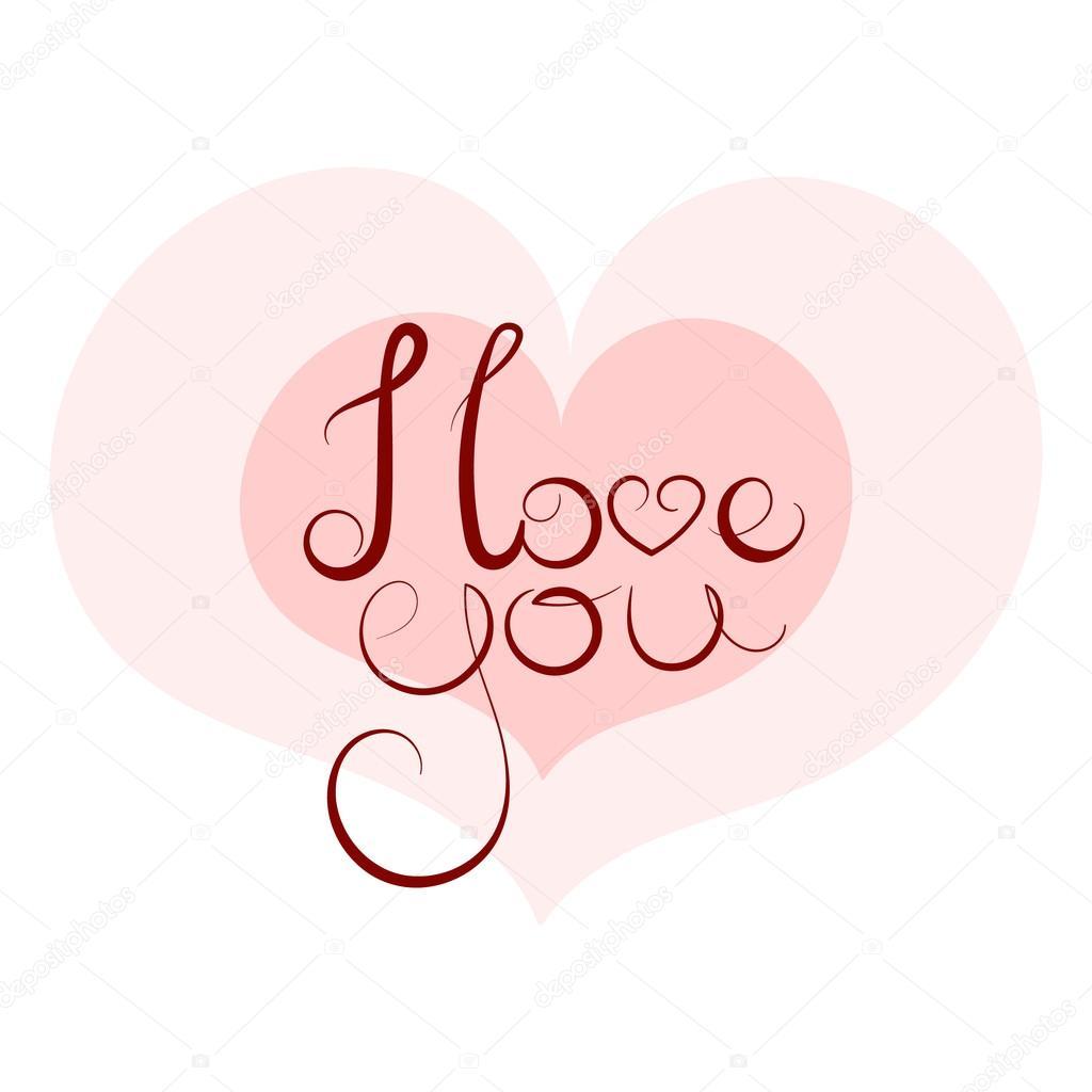 Wonderbaarlijk I love you. text inscription — Stock Vector © gingerkatya #68262067 PO-17