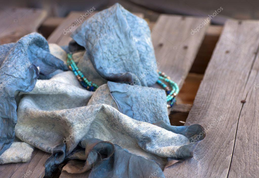 estilo máximo reunirse gran calidad Bufanda de fieltro de lana de oveja — Foto de stock ...