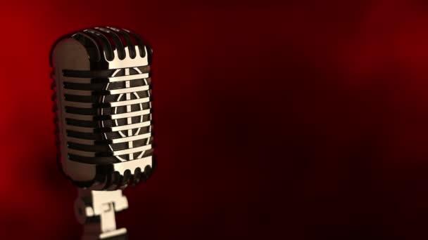 Retro mic na červené