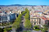 Fotografie View of Barcelona on summer sunny day