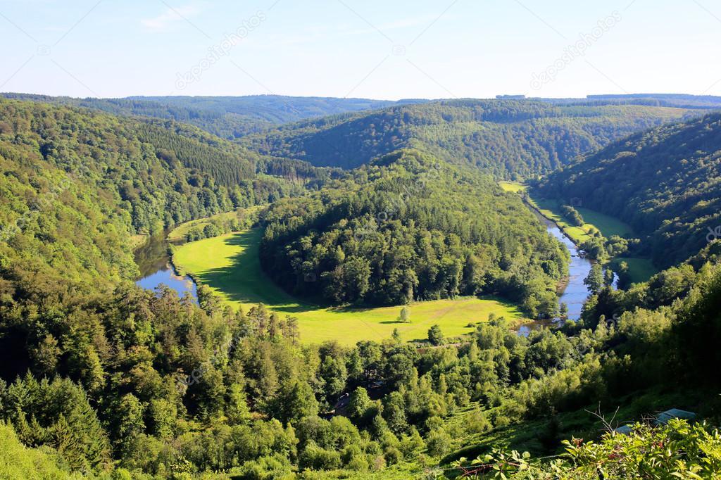 Beautiful nature in Belgian Ardennes