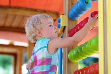 Preschooler girl at playground
