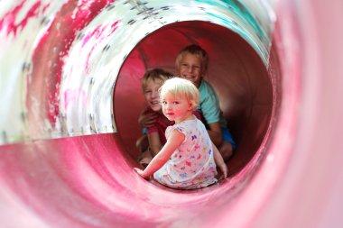 Happy kids on playground