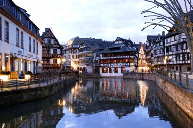 Medieval cityscape in hystorical part of Strasbourg, Alsace region, France