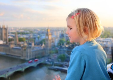 Children enjoying view from London Eye