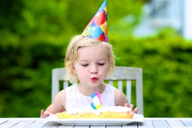 Little girl celebrating 3 years birthday
