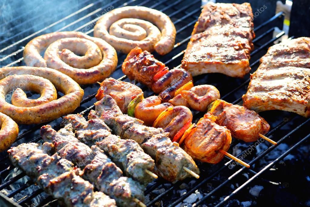 Мясное ассорти барбекю барбекю для школьников меню на природе