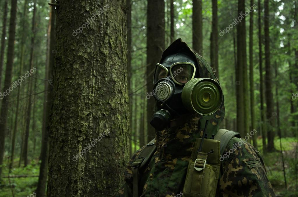soldier in forest