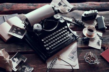 Vintage typewriter on a table