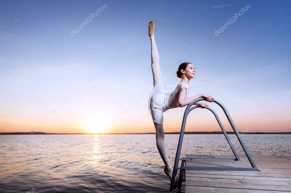 Ballet at the seaside.