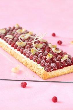 Raspberry Lychee Lime Pavlova Cake