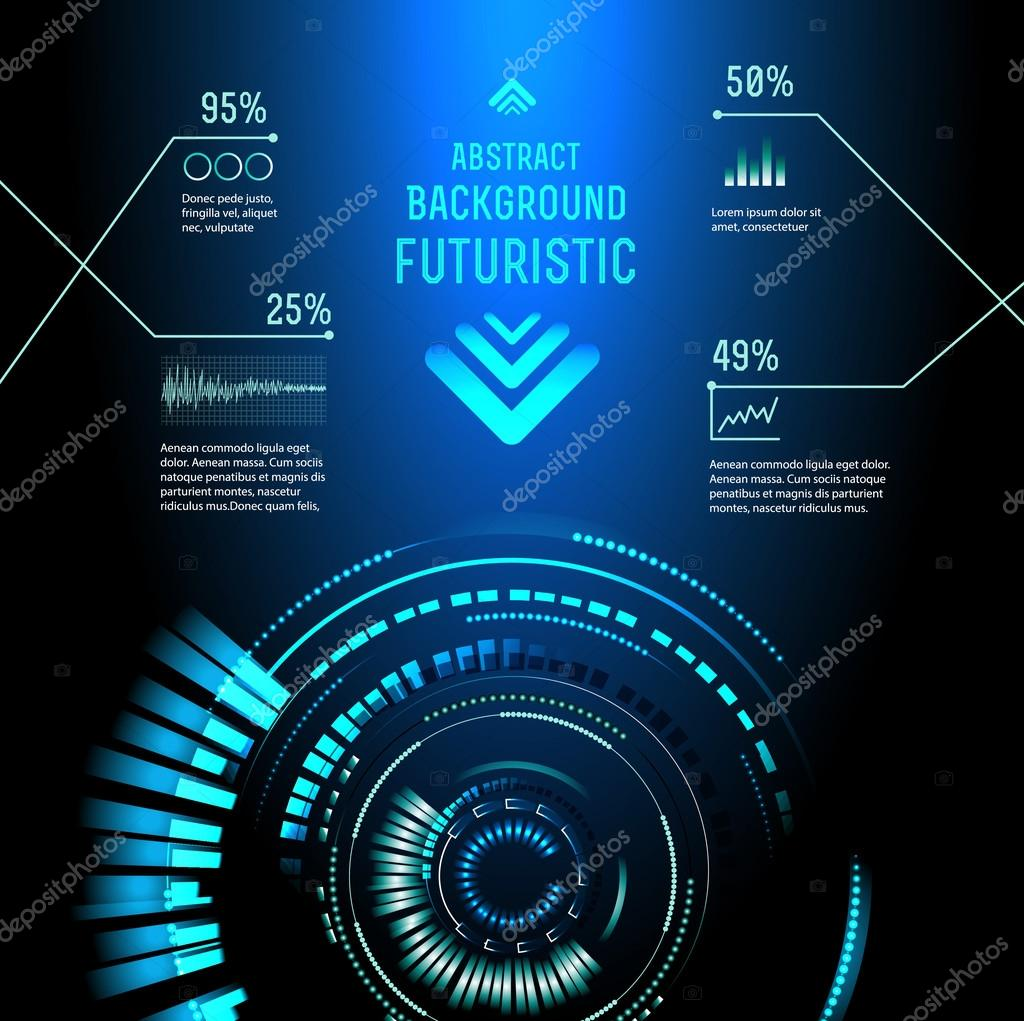 sci fi futuristic user interface � stock vector