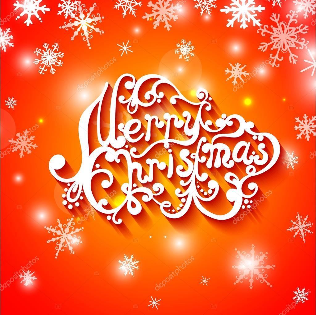 Frohe Weihnachten Brief.Frohe Weihnachten Brief Typografie Stockvektor