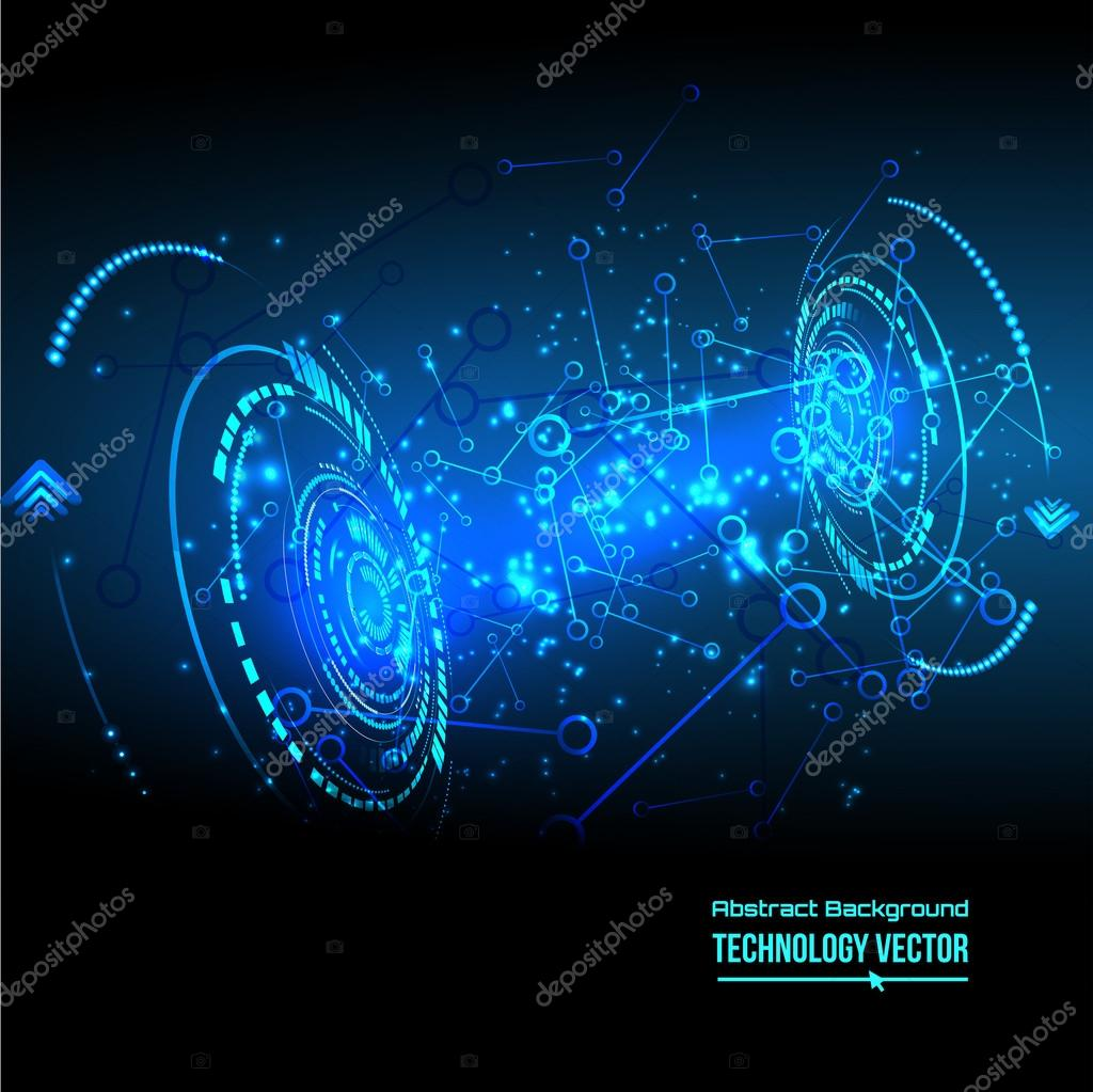 Abstract Futuristic High Tech Background Stock Vector C Milissa4like 97007308