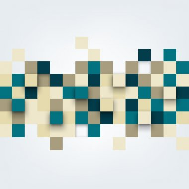 Vector background. Illustration of abstract squares.