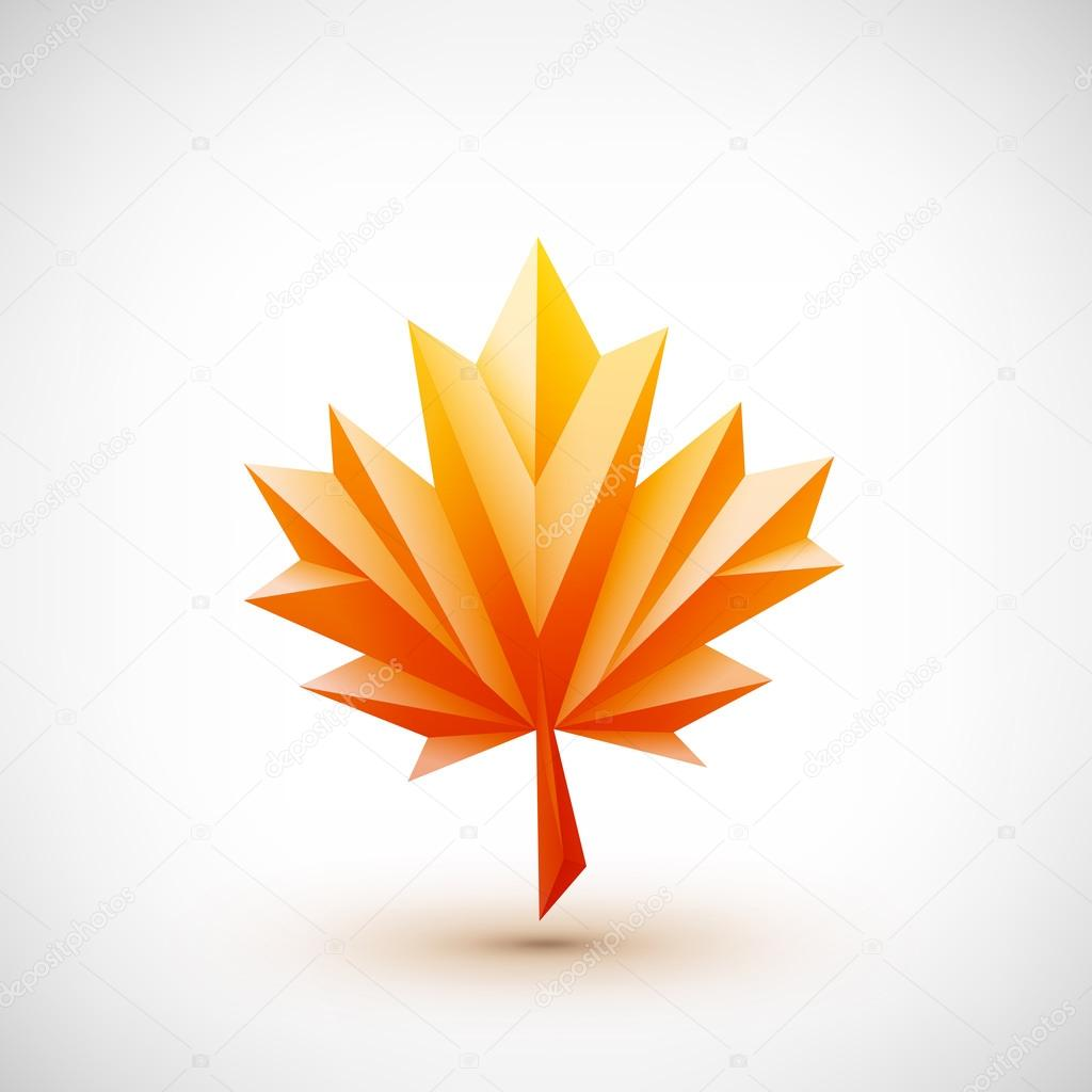 Conceptual polygonal maple leaf.