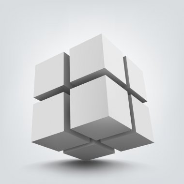 Composition of 3d cubes.