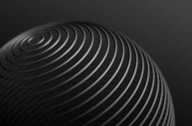 Abstract Rendering of High Tech Metal Shape.