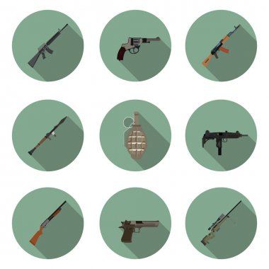 flat icons set weapons