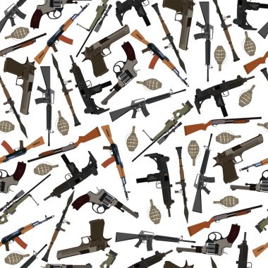 flat seamless pattern weapons