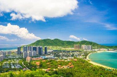 Overview of Sanya city, Hainan Province, China