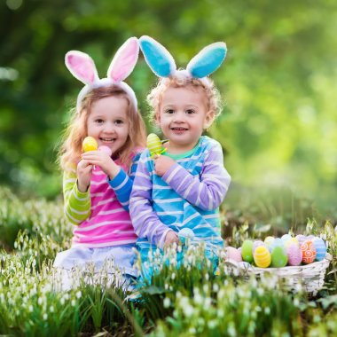 Children on Easter egg hunt