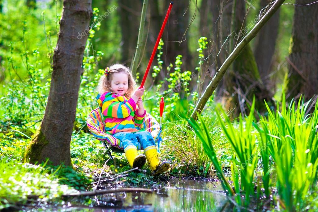 Little girl fishing