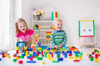 Kids playing at day care
