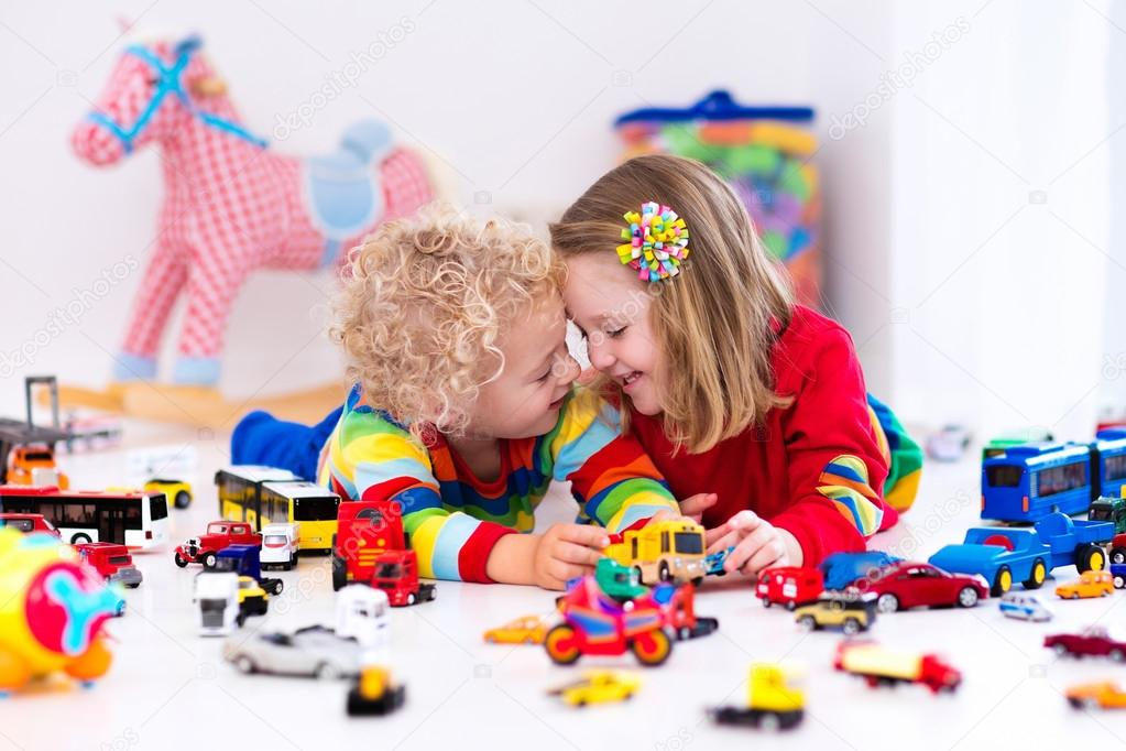Little Kids Playing With Toy Cars Stock Photo C Famveldman 115152908