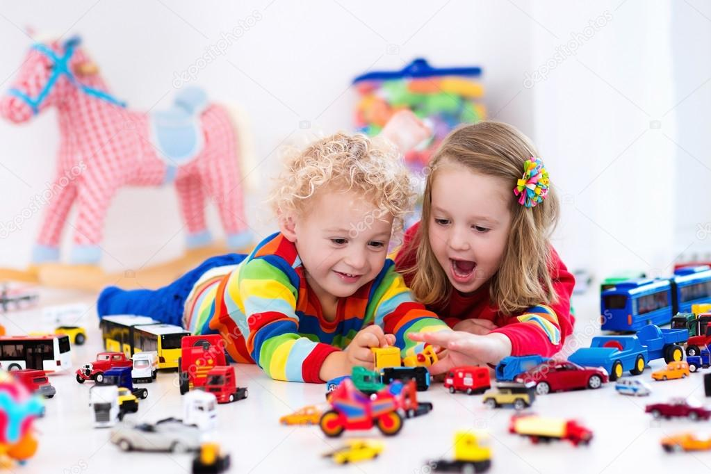 Little Kids Playing With Toy Cars Stock Photo C Famveldman 115154806