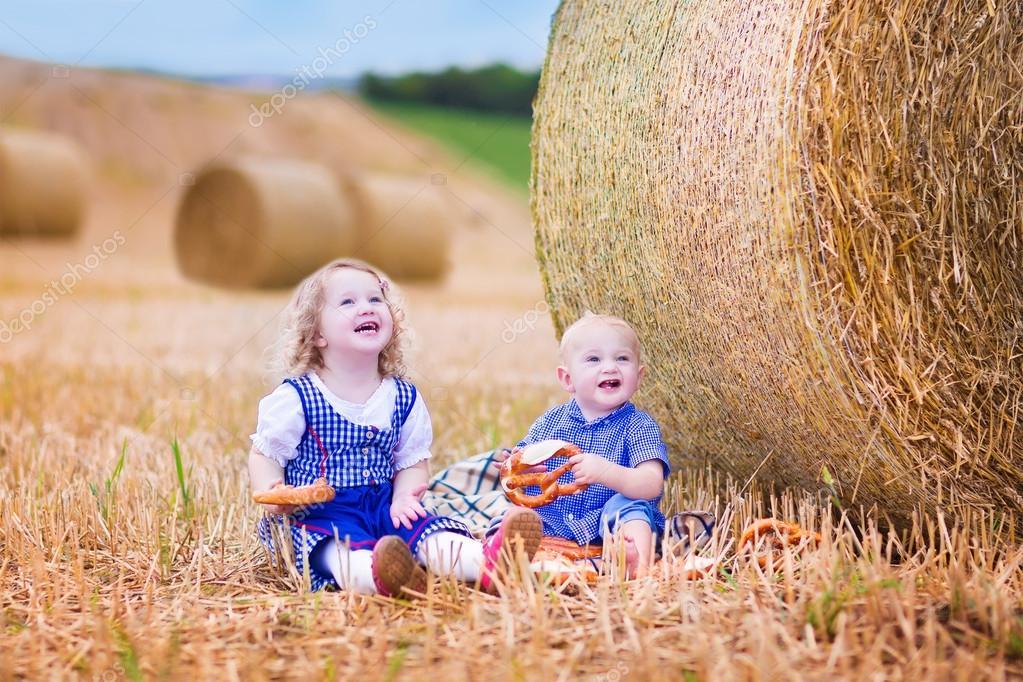 Kids during Oktoberfest