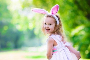 Little girl with Easter bunny ears