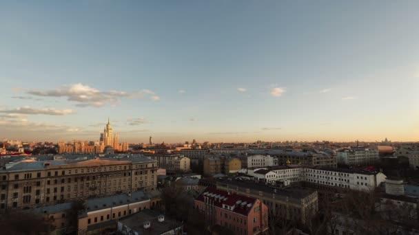 Pohled z Moskvy ze střechy v centru