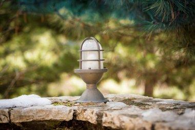 Iron lamp at the garden