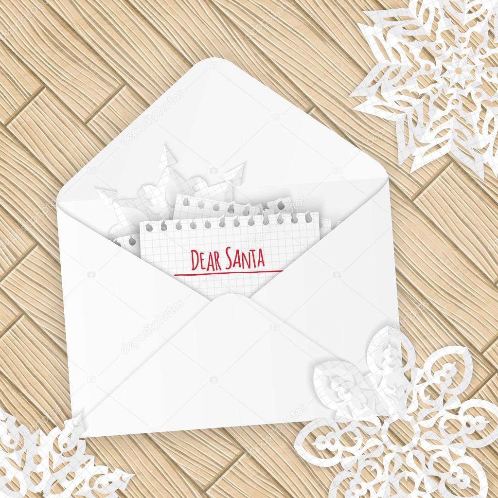 Frohe Weihnachten Brief.Frohe Weihnachten Brief Mit Schneeflocken Stockvektor