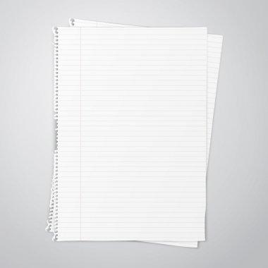 White empty paper sheet, vector illustration EPS10 stock vector