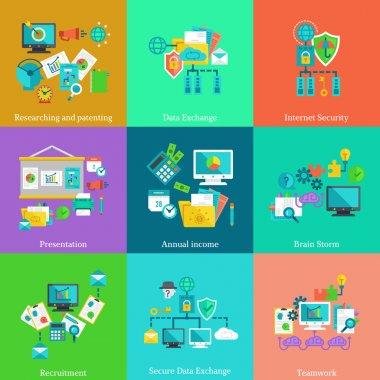Creative flat design concepts for web banners, web sites, infographics. clip art vector
