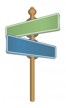 Blue and Green street sign