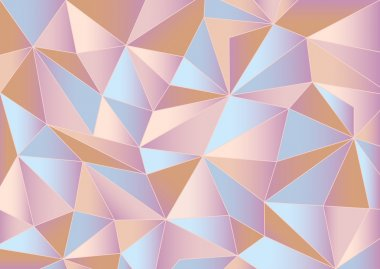 Abstract pink triangles 3d background