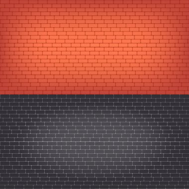 Set of  brick walls seamless vector background.