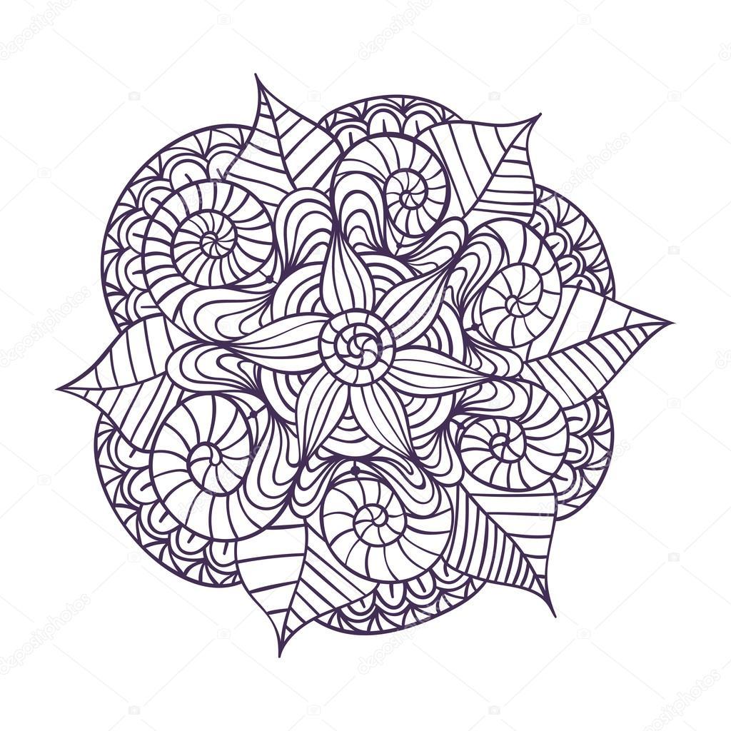 Libro De Mandalas Descargar Mandala Patrón De Ornamento