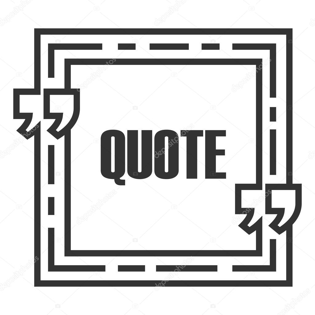 Quote sign icon quote blank template speech bubble template text quote blank template speech bubble template text excerpt isolated business card template paper sheet information text quote form vector by panya accmission Choice Image