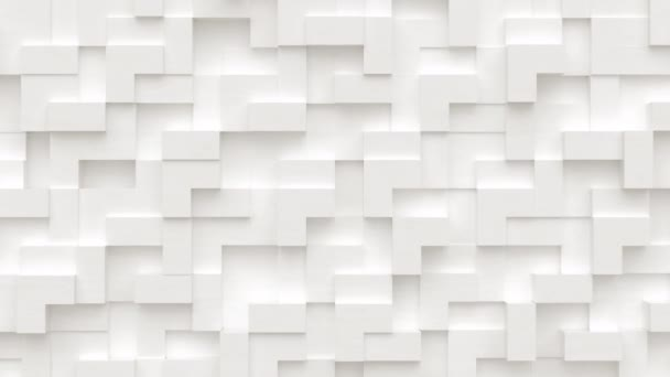 Abstraktní pohyb pozadí z náhodných pohyblivých kostek bloků, bezproblémová smyčka animace