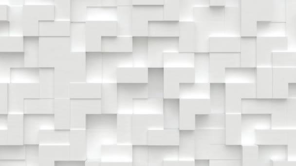 Absztrakt mozgás háttér véletlenszerű mozgó kocka blokkok, zökkenőmentes hurok animáció